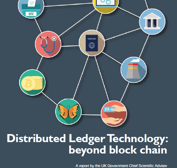 UK Government Report on Distributed Ledger Technologies.